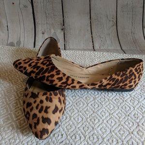 Leopard Print pointy toe flats